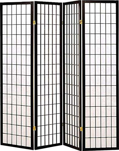 4-Panel Folding Screen Black and White (Divider Store In Room)