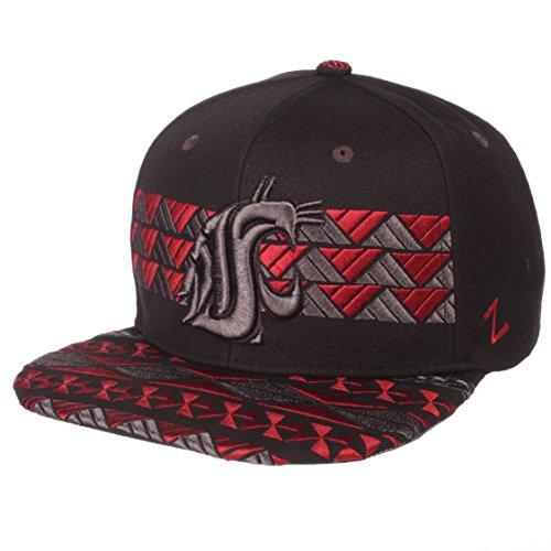 Zephyr NCAA Washington State Cougars Men's Kolohe Snapback Hat, Adjustable, Black/Team Color