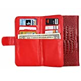 High Quality Cases , 6.0 Inch Universal Crazy Crocodile Texture Carry Cases with Wallet &CardSlots &Lanyardfor iPhone 6 Plus &6SPlus &SamsungGalaxy S6 Edge / G925 ( Color : Red )