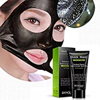 Blackhead Remover Mask, Mjun Peel Off Mask, Unisex Activated Natural Charcoal Black Mask Blackhead Peel Off Remover Deep Skin Clean Purifying Acne Mud Nose Face Mask (black)