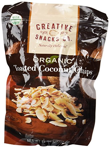 Price comparison product image Creative Snacks Organic Toasted Coconut Chips,  16.0 Ounce