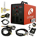 MIG Welder - LOTOS MIG175 175AMP Mig Welder with FREE Spool Gun, Mask, Aluminum Welding Wires, Solid wires, Argon Regulator, Standard MIG Gun