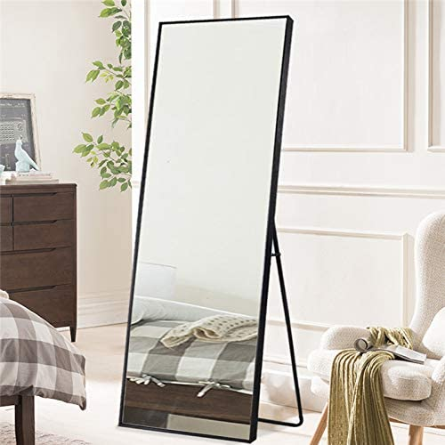 Burlywood 65x22 Stylish Beveled Wide Frame Bedroom Dressing Mirror Wall Mounted Mirror Hanging Leaning Standing PexFix Full Length Floor Mirror