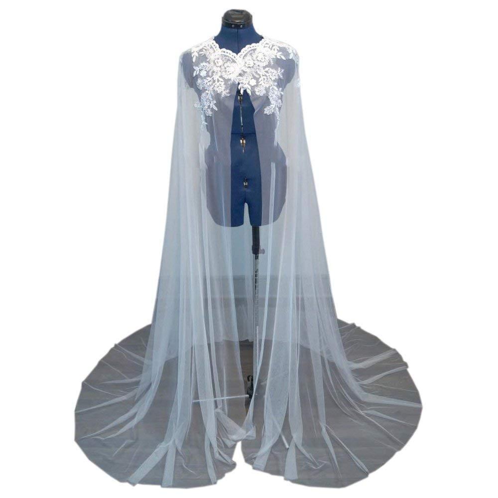 Women's Wedding Capes Lace Appliques Bridal Wraps Cathedral Length Wedding Cloak Jacket Cloak