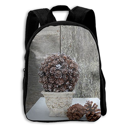 (JHXZML Pinecone Topiary Student School Backpack Elementary School Bags For Kids)