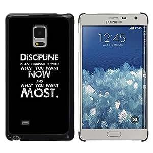 FlareStar Colour Printing Black Discipline Black Text Inspiring Message cáscara Funda Case Caso de plástico para Samsung Galaxy Mega 5.8 / i9150 / i9152