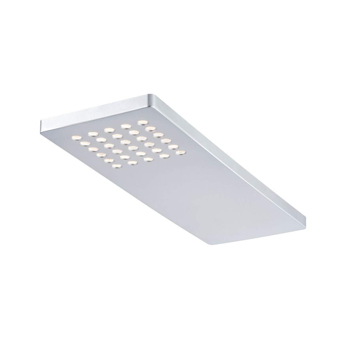 Paulmann Leuchten Paulmann 93563 Möbelaufbauleuchten-Set Pattern Unterbauleuchte LED Chrom matt 3er Komplettset 3x22W 230 12V 12VA Kunststoff inkl. Leuchtmittel Einbauleuchte, 2.2 W