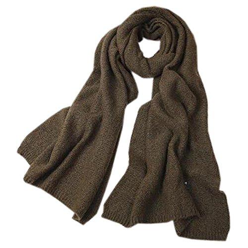 一定見分けるあさり女性のかわいいロングソフトスカーフ快適な編みスカーフネッカーコフネックウォーマー、グリーン