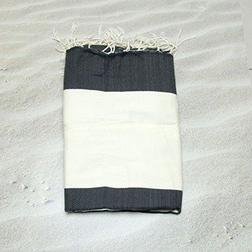 Dubai Noir -100% coton Hammam Serviette, 100cm x 200cm, Probablement le plus polyvalent que vous aurez jamais acheter pour vous-même ou donner comme un cadeau. Idéal pour toute personne qui