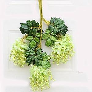 Nyalex 12pcs/lot 75cm Wisteria Artificial Flower Vine For Wedding Party Kids Room Home Art Decor DIY Silk Flowers For Scrapbooking 101
