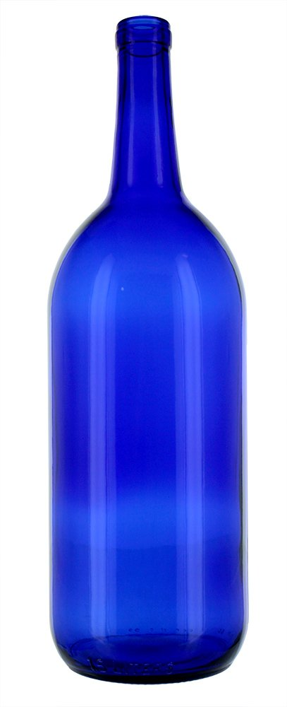 6 - Cobalt Blue Bordeaux Flat Bottom 1.5 Ltr. Glass Bottles for Bottle Trees, Crafting, Parties,Wedding Center Piece , Decor , Home Brew , Beer, Wine by Antiques Ahead (Image #3)