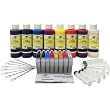 InkOwl® - Complete Refill Kit for use in EPSON SureColor P400 printers (T3240-T3249) #324 ink - 8x120ml pigment USA ink