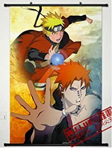 Home Decor Naruto Uzumaki and Pain Cosplay Wall Scroll Poster 35.4 X 23.6 Inches - 475