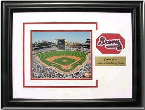 CGI Sports Memories Atlanta Braves Turner Field Photo Frame with 3D Double Mat