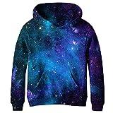 COIKNAVS Teen Girls Boys Galaxy Fleece Sweatshirts Pockets Pullover Hoodies NO13 XL
