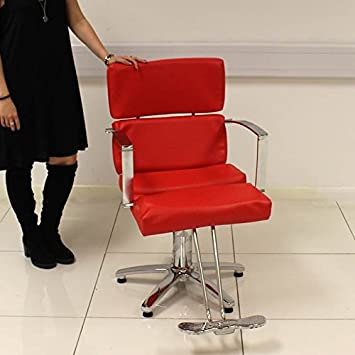 Hair Salon Styling Stuhl Friseur Barbiere Schwarz Weiß Rot Chrom ...
