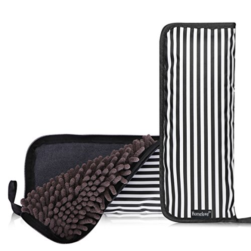 Homelove Super Water-Absorbent Umbrella Bag Case with Zippered Closure Quick Dry Water Absorbing Ultrafine Fiber Umbrella Cover Stripe ()