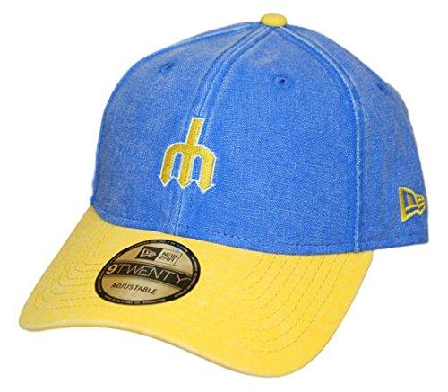 New Era Seattle Mariners MLB 9Twenty Cooperstown Rugged Canvas Adjustable Hat (New Era Canvas Cap)