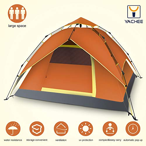 Yachee Automatic Hydraulic Tent, Pop Up 2-4 Person Instant S
