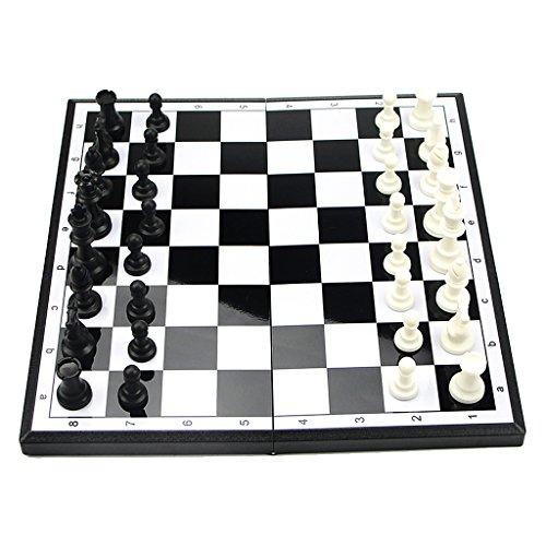 Perfk 磁気 折り畳み チェスセット おもちゃ チェス盤  贈り物 ゲーム 大型