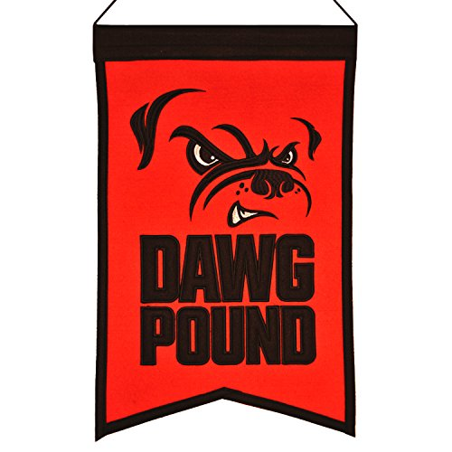 Winning Streak Cleveland Browns Dawg Pound Franchise Wool Banner (14