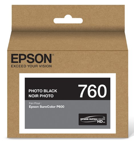Epson T760120 UltraChrome HD Photo Black Standard Capacity Cartridge Ink (Photo Black Accessories Ink)
