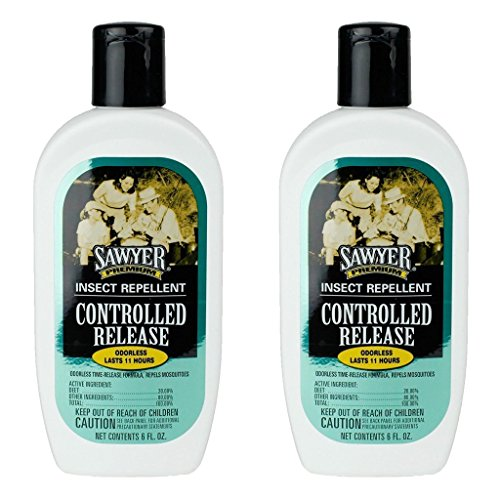 Sawyer Products SP5292 Controlled Release Family Insect Repellent, Lotion, Twin Pack, - 6 Bottle Oz Greasy Spray