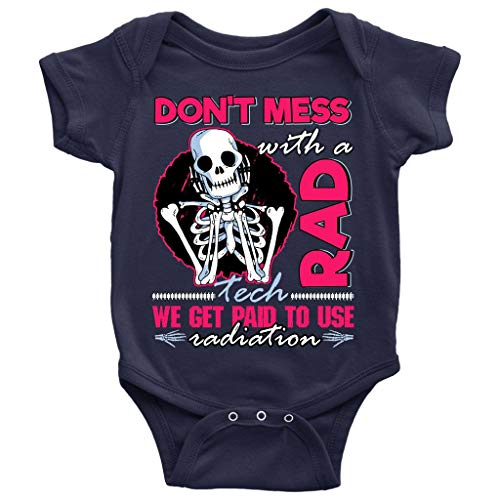 Cool Rad Tech Baby Bodysuit, Get Paid To Use Radiation Baby Bodysuit (NB, Baby Bodysuit - Navy) ()