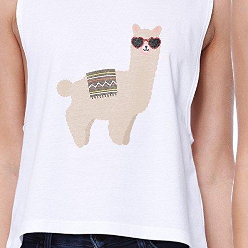 para mangas mujer 365 blancas tama Camiseta tama estampada o de o sol con gafas Llamas sin TFCqTgxw
