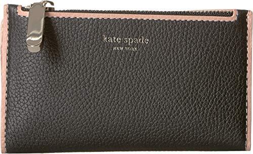 Kate Spade New York Women's Sam Small Slim Bifold Wallet, Black, One Size