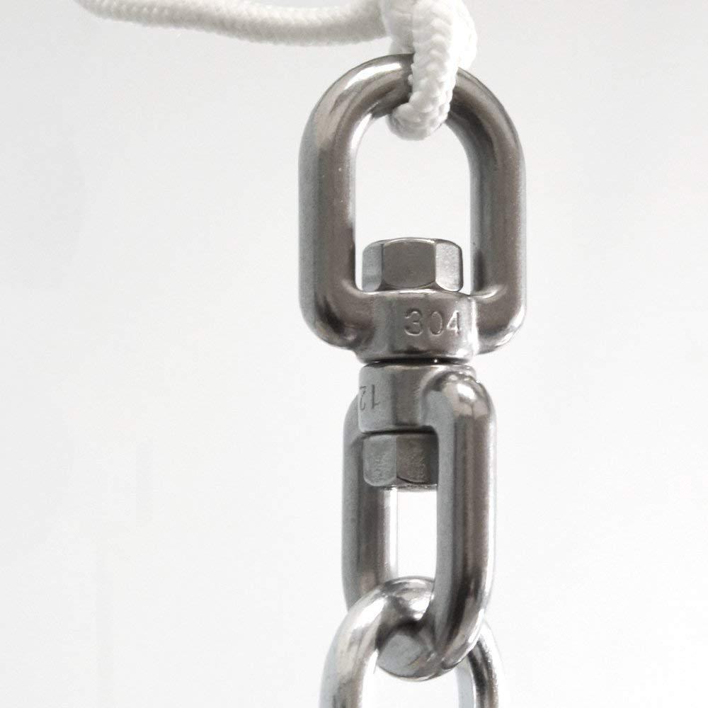 AMANKA 420kg XL H/ängesessel Drehwirbel 10x125mm Edelstahl Swivel H/ängestuhl Befestigung Boxsack Aufh/ängung Geschlossen