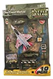 f series helicopter parts - Battle of Valor Combat Military Series Die-cast Metal 1:87 Scale 10 Piece Set ~ F-16 Fighting Falcon, Camouflage Helicopter, Rapid Response Vehicle and Accessories