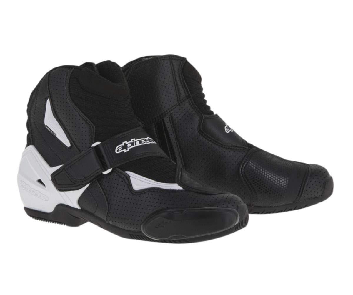 Alpinestars SMX-1R Vented Men's Street Motorcycle Shoes - Black/White / 40