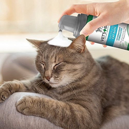 Vet's Best No Rinse Waterless Dry Shampoo for Cats, Natural and Veterinarian Formulated