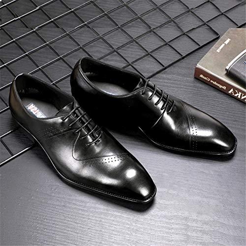 B Tallados Cuero Negocios Los Formal Cuero Bullock Zapatos b Hombres Hombres Mmm Desgaste De Nuevos Color 41 qvwfEUwax