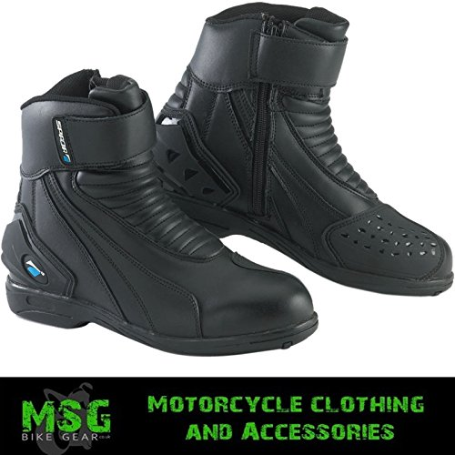 SPADA ICON WP MOTORCYCLE SPORTS SHORT BOOTS - BLACK new EC 41 by Spada