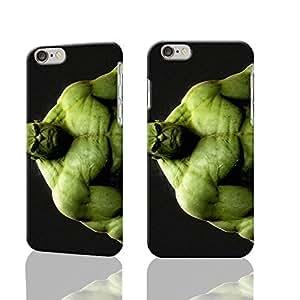 Hulk Custom Diy Unique Image Durable 3D Case Iphone 6 Plus - 5.5 Hard Case Cover