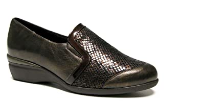 Doctor Cutillas Damen Schuhe komfortabel Leder Schwarz mit Schaufel ...