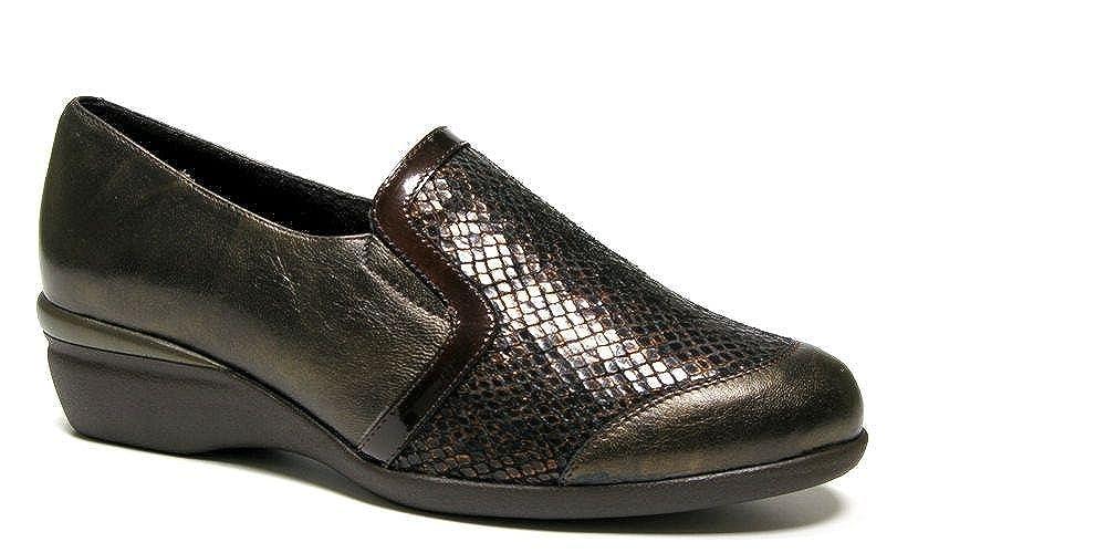 Doctor Cutillas Damen Schuhe komfortabel Leder Schwarz mit Schaufel Schwarz Lycra-Schablone Kupplung – 55804 – 70 Schwarz Schaufel 636d79