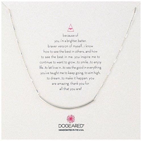 Dogeared Balance Sparkle Bar Chain Sterling Silver Balance Tube Chain Necklace, 16
