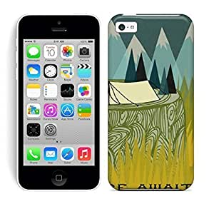 Best Power(Tm) HD Colorful Painted Watercolor Adventure Awaits Hard Phone Case For Iphone 5C