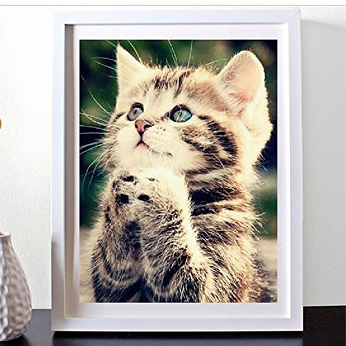 Delight eShop 5D Naughty Kitten Cat Diamond Embroidery Diamond Painting DIY Cross Stitch KIT