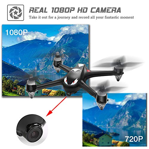 Mysterystone GPS RC Drone with Camera 1080P HD, Brushless Quadcopter Drone with Hover, Smart Return Home System for Beginners Women and Men Taking Photos Videos Idea Black