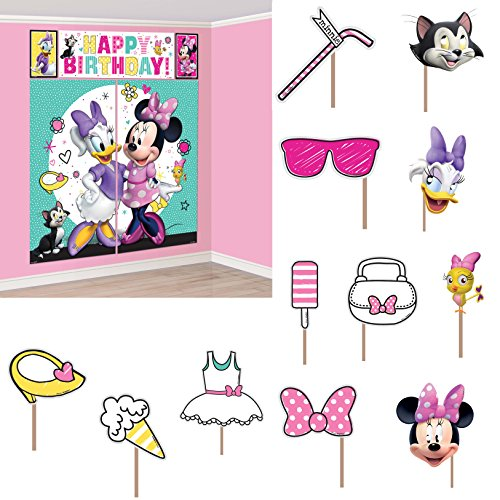 Amscan Scene Setters with Props | Disney Minnie Mouse Happy Helpers Collection | Party Accessory ()