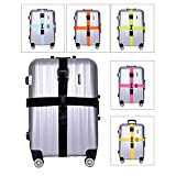 BlueCosto Long Cross Luggage Straps Suitcase Belts Travel Tags Accessories
