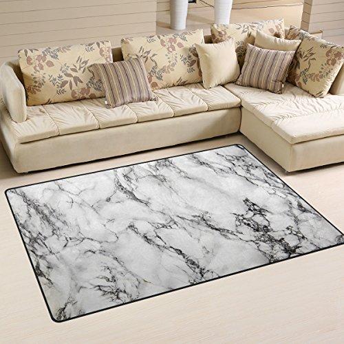- WOZO Hipster Gray Marble Area Rug Rugs Non-Slip Floor Mat Doormats Living Room Bedroom 60 x 39 inches