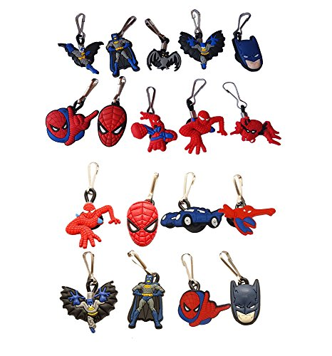 AVIRGO 18 pcs Zipper Pull Charms for Jacket Backpack Bag Pendant Set # 212 -2