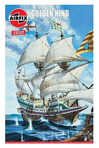 Airfix Vintage Classics Golden Hind 1:72 Naval Galleon Ship Plastic Model Kit A09258V