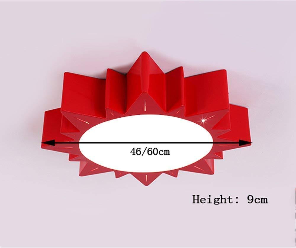 偉大な Haiyao 天井のランプ、居間のリビングルームの天井のLampedroomの装飾のシャンデリア、寝室のライト/冷間圧延された&簡単な幾何学的な天井ランプのヨーロッパ式の色は/照明/Lamp Lounge Creatを導きました (Color : 60cm, サイズ : Green) B07PLK7XG2 46cm 赤 赤|46cm, 岩代町 c4869751