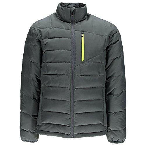 Spyder Men's Dolomite Full Zip Coat, Polar/Bryte Yellow, X-Large
